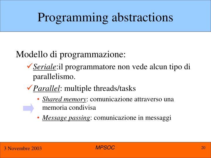 Programming abstractions