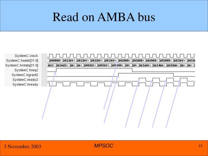 Read on AMBA bus