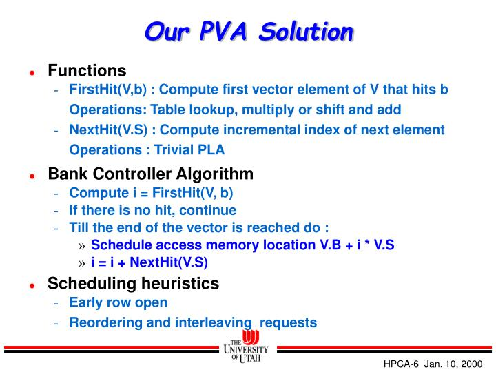 Our PVA Solution