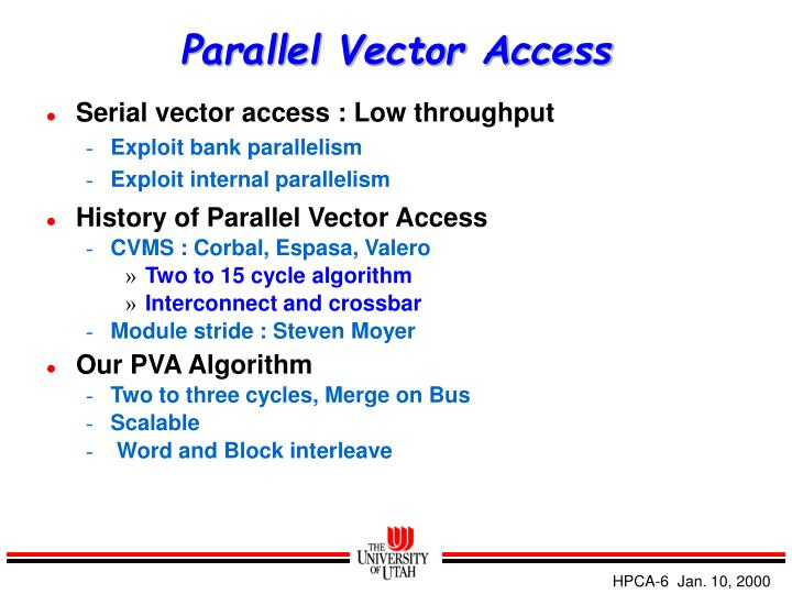Parallel Vector Access