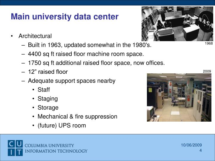 Main university data center