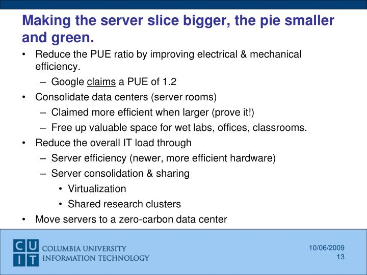 Making the server slice bigger, the pie smaller and green.
