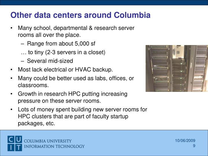 Other data centers around Columbia