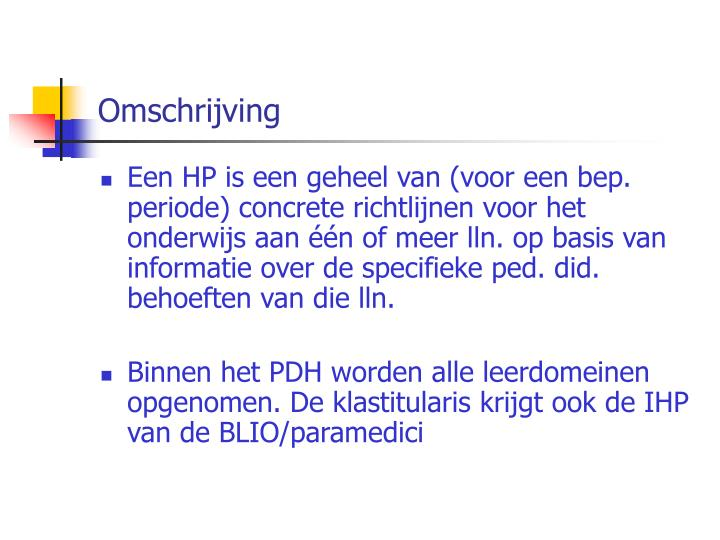 Omschrijving