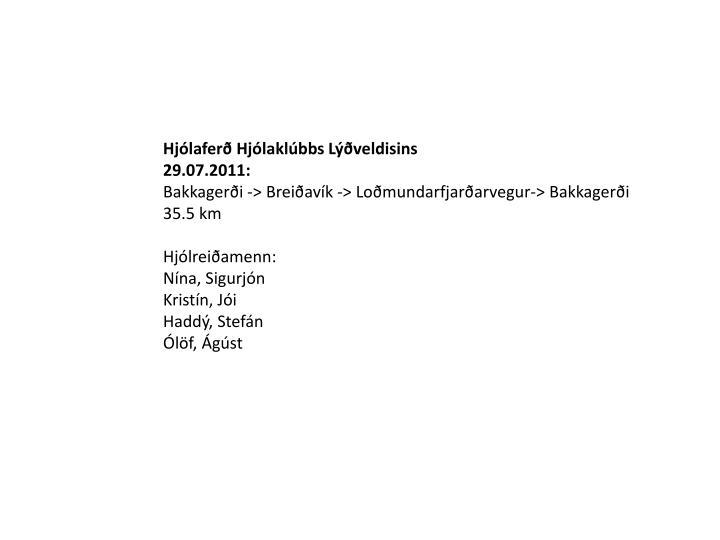 Hjólaferð Hjólaklúbbs Lýðveldisins