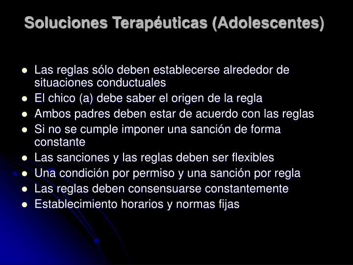 Soluciones Terapéuticas (Adolescentes)