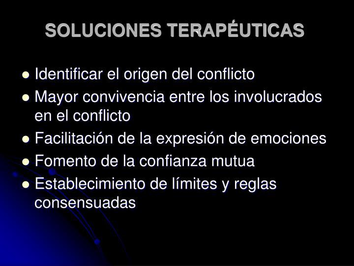 SOLUCIONES TERAPÉUTICAS