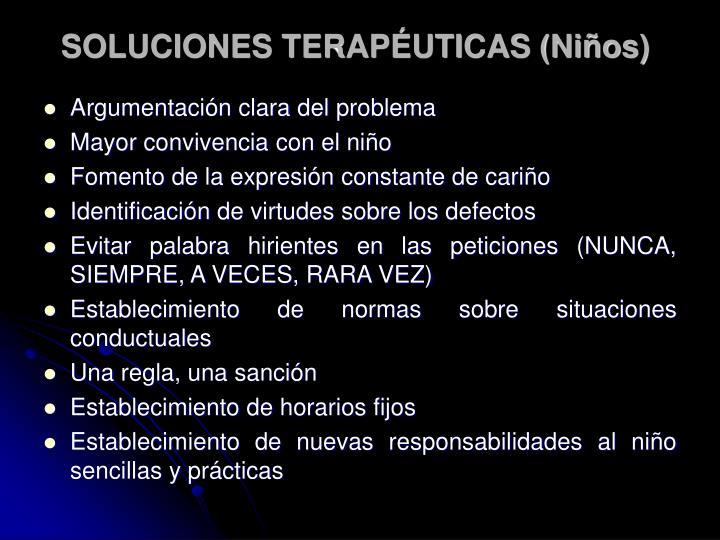 SOLUCIONES TERAPÉUTICAS (Niños)