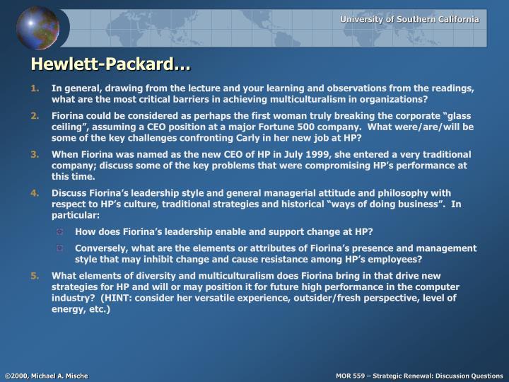 Hewlett-Packard…