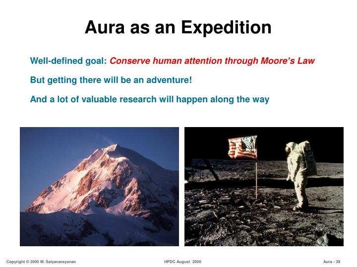 Aura as an Expedition