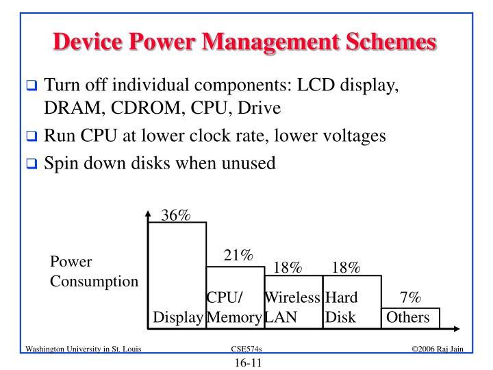 Device Power Management Schemes