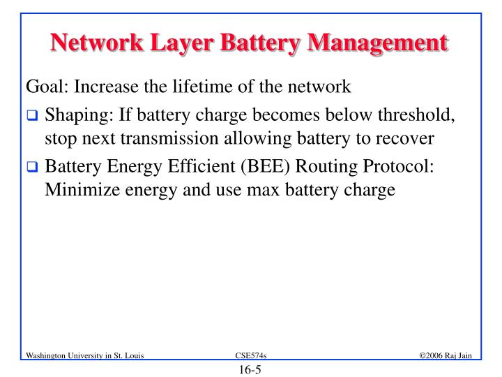Network Layer Battery Management