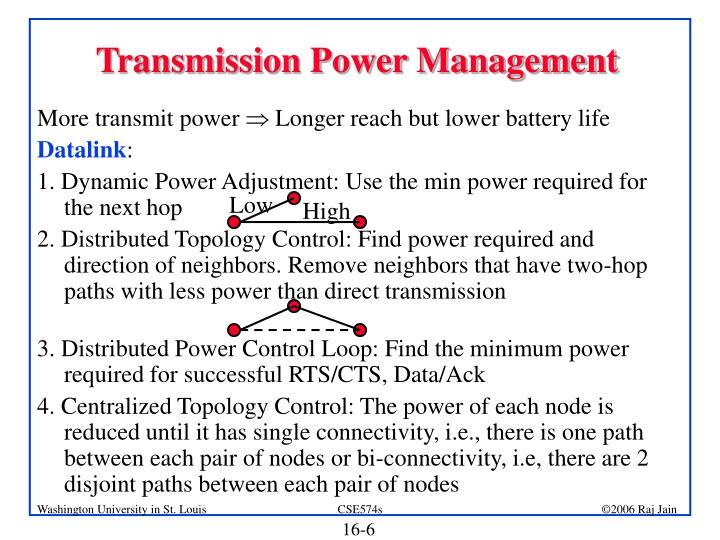 Transmission Power Management