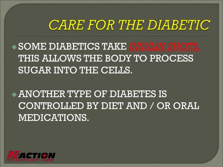 SOME DIABETICS TAKE