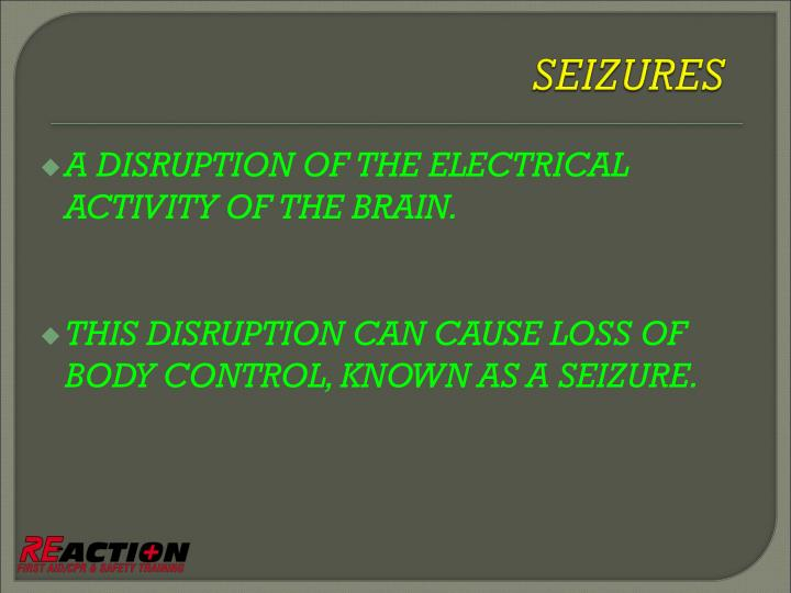 A DISRUPTION OF THE ELECTRICAL ACTIVITY OF THE BRAIN.