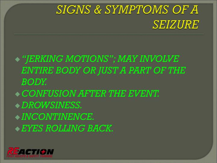 """JERKING MOTIONS""; MAY INVOLVE ENTIRE BODY OR JUST A PART OF THE BODY."