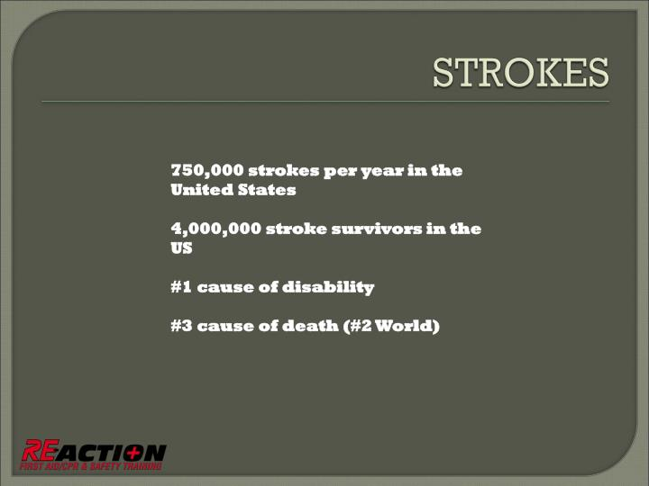 750,000 strokes per year in the United States