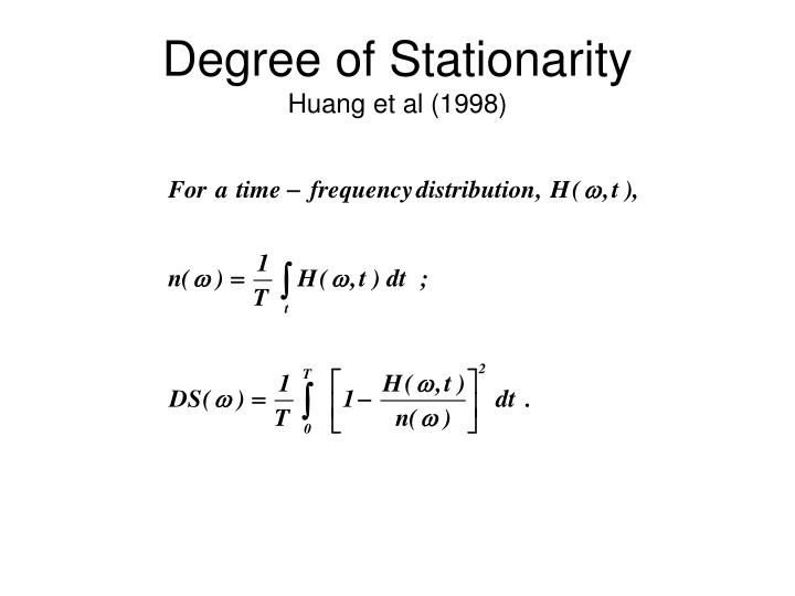 Degree of Stationarity