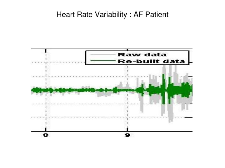 Heart Rate Variability : AF Patient