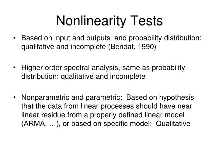 Nonlinearity Tests