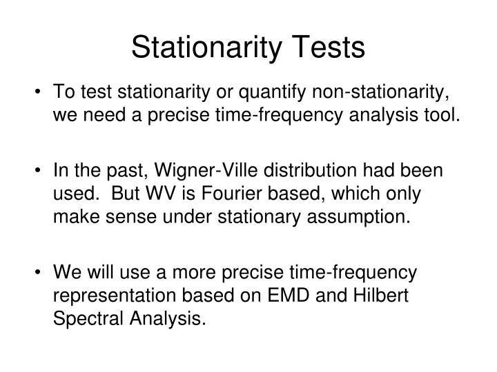 Stationarity Tests