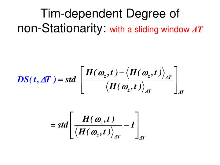 Tim-dependent Degree of