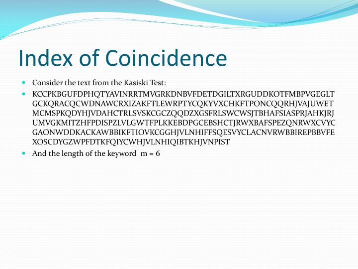 Index of Coincidence