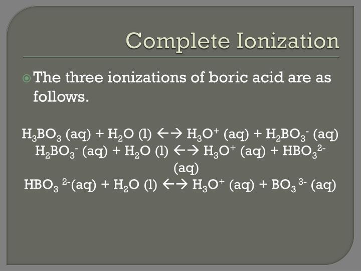 Complete Ionization