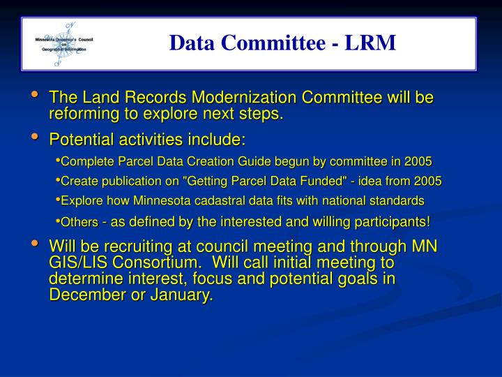Data Committee - LRM