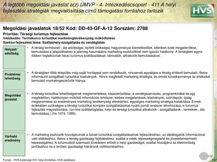 Megoldási javaslatok 18/52 Kód: DD-43-GF-A-12 Sorszám: 2788