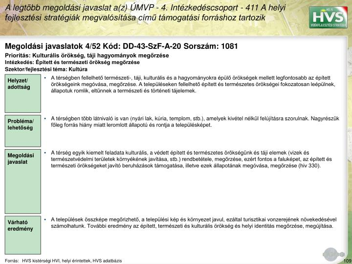 Megoldási javaslatok 4/52 Kód: DD-43-SzF-A-20 Sorszám: 1081