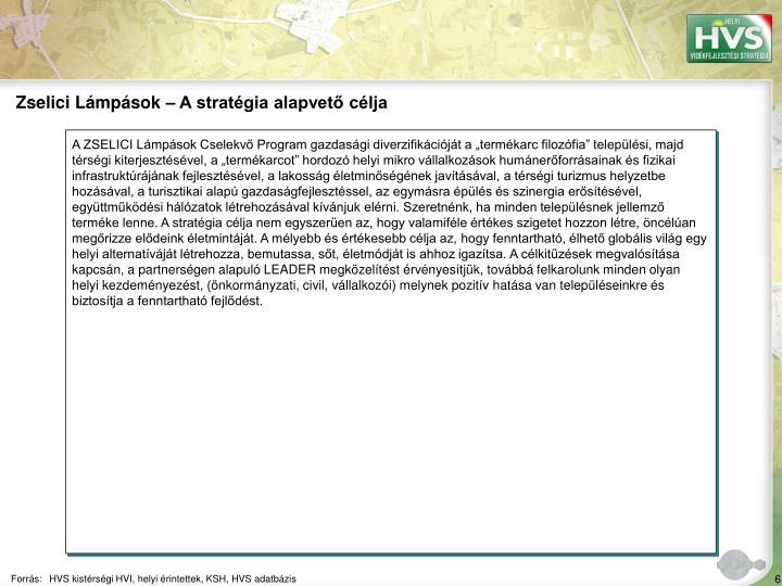 Zselici Lámpások – A stratégia alapvető célja