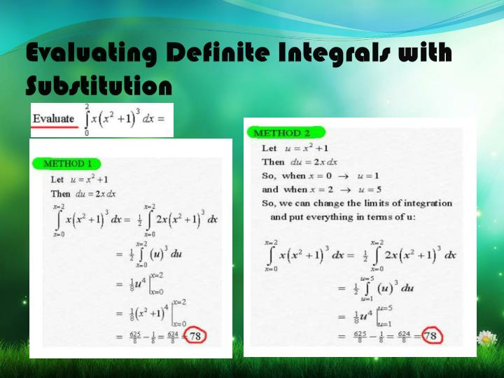 Evaluating Definite Integrals with Substitution