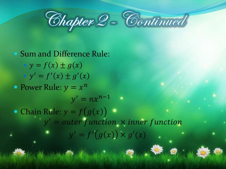 Sum and Difference Rule:
