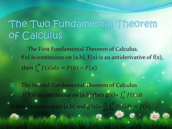 The Two Fundamental Theorem of Calculus