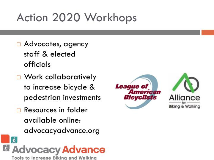 Action 2020 workhops