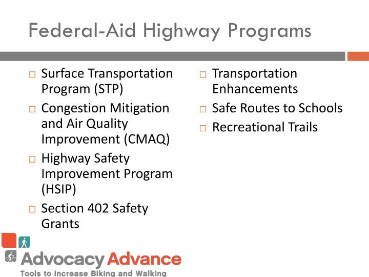 Federal-Aid Highway Programs
