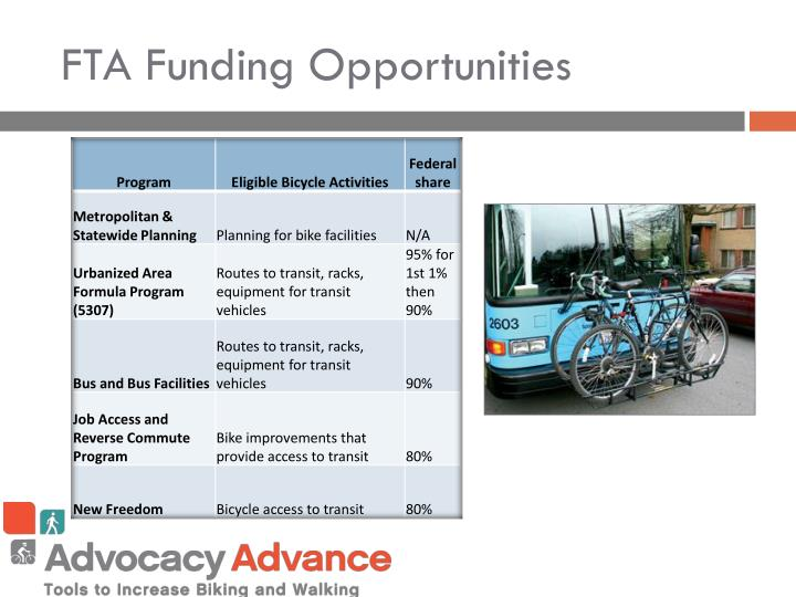 FTA Funding Opportunities