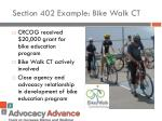 section 402 example bike walk ct
