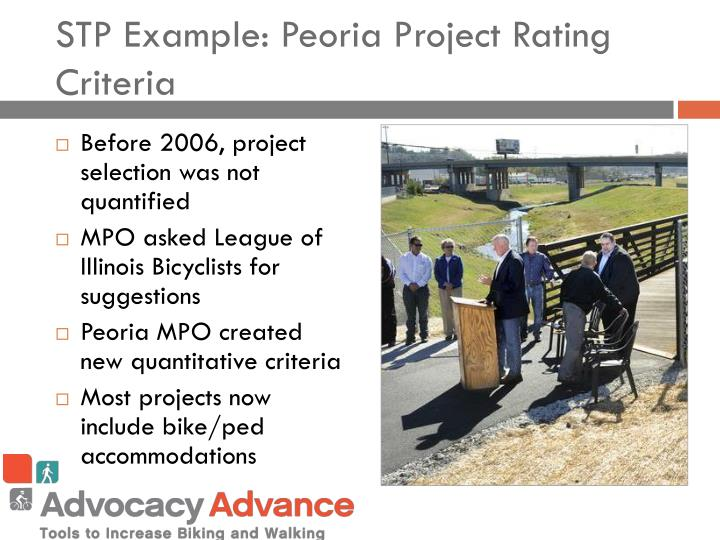 STP Example: Peoria Project Rating Criteria