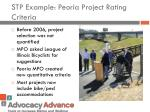 stp example peoria project rating criteria
