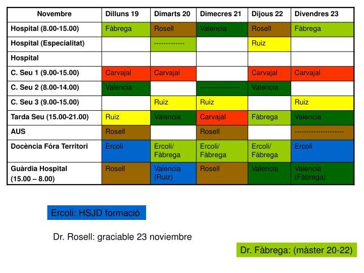 Ercoli: HSJD formació