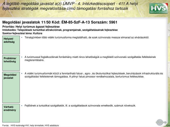 Megoldási javaslatok 11/50 Kód: ÉM-85-SzF-A-13 Sorszám: 5961