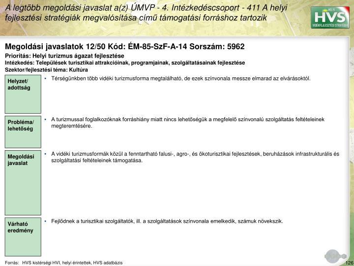 Megoldási javaslatok 12/50 Kód: ÉM-85-SzF-A-14 Sorszám: 5962