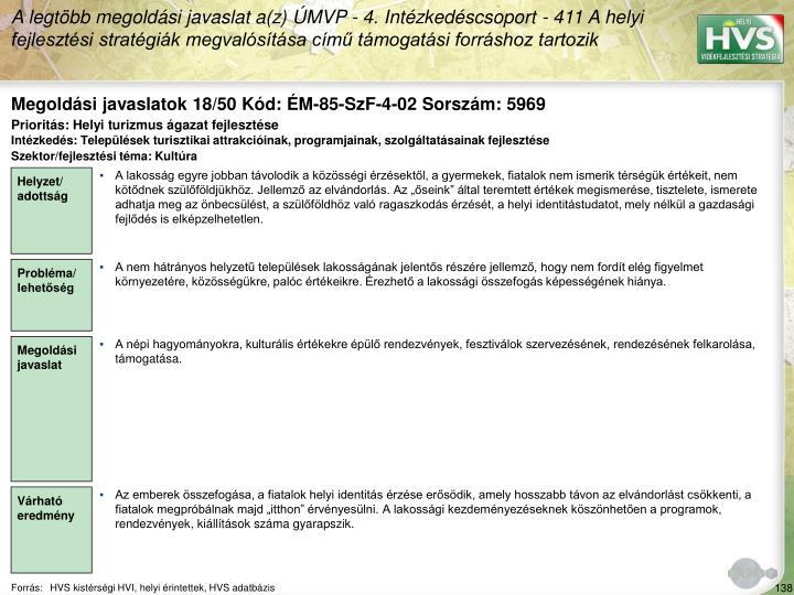 Megoldási javaslatok 18/50 Kód: ÉM-85-SzF-4-02 Sorszám: 5969