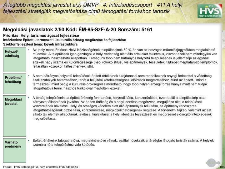 Megoldási javaslatok 2/50 Kód: ÉM-85-SzF-A-20 Sorszám: 5161