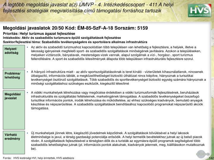 Megoldási javaslatok 20/50 Kód: ÉM-85-SzF-A-18 Sorszám: 5159