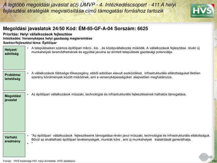 Megoldási javaslatok 24/50 Kód: ÉM-85-GF-A-04 Sorszám: 6625