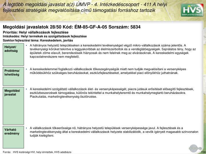 Megoldási javaslatok 28/50 Kód: ÉM-85-GF-A-05 Sorszám: 5834