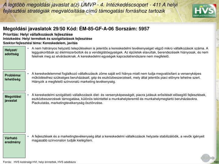 Megoldási javaslatok 29/50 Kód: ÉM-85-GF-A-06 Sorszám: 5957